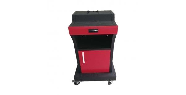 Machine cabinet spray processing